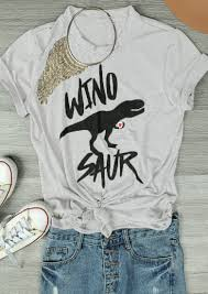 wino saur casual t shirt bellelily