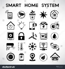 smart home system icons home automation stock vector 214237645