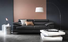 prix canape cuir canapé en cuir noir valentin collection deco 2016