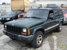 cherokee jeep 2001 2001 forest green pearlcoat jeep cherokee sport 29957461