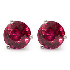 ruby stud earrings burma ruby stud earrings w color wixon jewelers