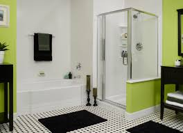 color ideas for bathrooms fascinating enclosure transparent shower and charming wooden shelf