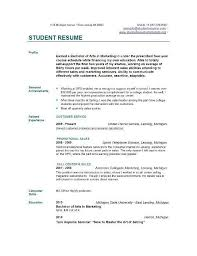 basic resume exles basic resume exles for students listmachinepro