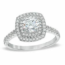square diamonds rings images 1 1 4 ct t w diamond square double frame engagement ring in 14k jpg