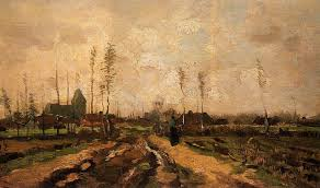 Landscape With Houses by Landscape With A Church And Houses 1885 Vincent Van Gogh
