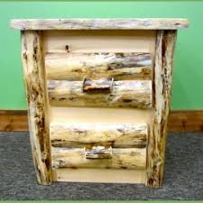 northern rustic pine finished midwest log furniture