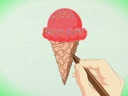 How To Draw A Flag How To Draw A Detailed Ice Cream Cone With Pictures Wikihow