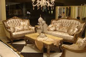 cream leather and wood sofa classy beige leather tufted sofa for your arabic style living room