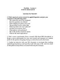 design criteria questions tutorial 4 survey methodology questionnaire