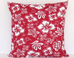 Red Floral Sofa by Red Floral Pillow Cover Red Linen White Chrysanthemum