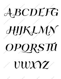 italic letter stencils numbers and custom made to order designs