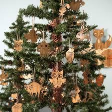 animal christmas ornaments bamboo set of 2 christmas ornament