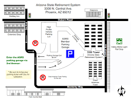 University Of Arizona Parking Map by Contact Us Arizona State Retirement System