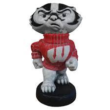 wisconsin badgers bucky heavy mascot garden statue