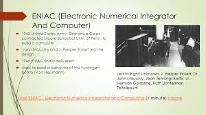 Eniac by Workshop 3 First Computers Ppt Download