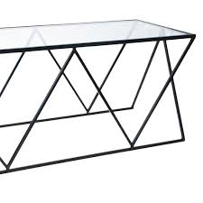 geometric coffee table glass metal marylouise parker org