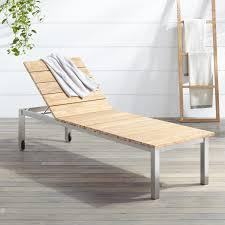 Outdoor Chaise Lounges Macon Teak Outdoor Chaise Lounge Chair Whitewash Outdoor