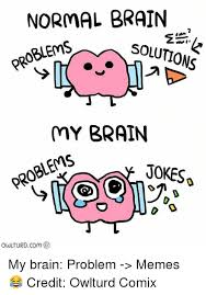 Problem Memes - normal brain problems solutions my brain problems jokes owuturd