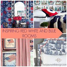 Red White And Blue Home Decor Gorgeous Red White And Blue Rooms Patriotic Decor Americana