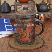 Teh Naga 400 ml cina yixing tea set tanah liat ungu cangkir teh naga