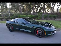 corvette 2014 stingray for sale sold c7 2014 chevrolet corvette coupe lime rock green for sale by