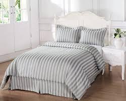 Damask Duvet Cover King Cheap 3 Pieces Silver Grey Cotton Damask Stripe Duvet Cover