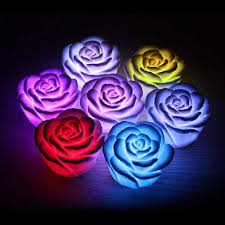 battery powered led flower color changing