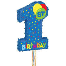 1st birthday boy boy 1st birthday pinata pull string walmart