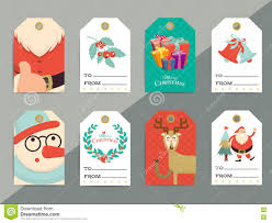 christmas gift tags template set vector printable xmas box or l