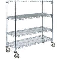 4 Tier Shelving Unit by Metro Super Adjustable Mobile Wire Shelving Units Webstaurantstore