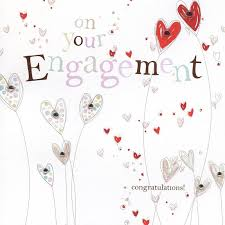 Congratulations On Engagement Card Hand Finished Hearts Engagement Card Karenza Paperie
