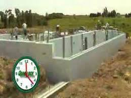 Insulated Concrete Forms Home Plans by Insulated Concrete Forms Icf Assembly Time Lapse Youtube