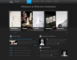 drupal different templates for different pages business peak drupal template