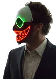 glowing nightmare before christmas mask neon nightlife