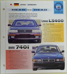 lexus ls400 australia head to head lexus ls400 bmw 740i imp collector brochure specs