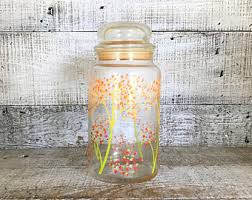 floral canisters etsy