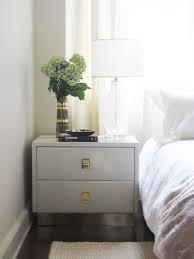 white lacquer nightstand design ideas