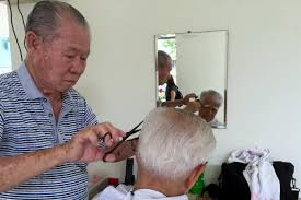 hair cut for senior citizens welcoming the new year with a free haircut latest singapore news