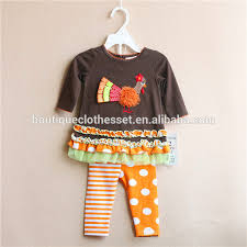 Thanksgiving Dress Baby Persnickety Turkey Clothing Set Thanksgiving