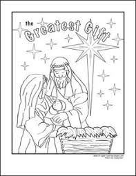 nativity printables coloring pages cut