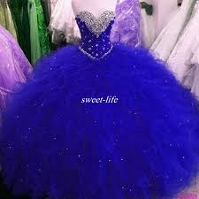 royal blue tulle cheap real images royal blue sweet 16 party debutantes gowns