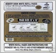 pioneer scrapbook refills pioneer 12x12 white scrapbook refills sheet protectors ebay