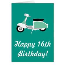 scooter birthday greeting cards zazzle co uk
