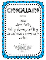 seasonal sensory poem defining u0026 writing freebie just in time