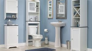 mainstays wood spacesaver white walmart com throughout bathroom