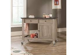 sauder kitchen furniture select mobile kitchen island salt oak 417089