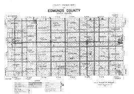 Sd Map Highway Department Edmunds County South Dakota