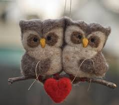 needle felted owl ornament birds scratchcraft on etsy