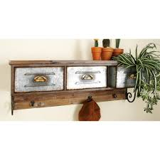 3 drawer farmhouse shelf and hook organizer 20236 the home depot null 3 drawer farmhouse shelf and hook organizer