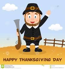 pilgrim happy thanksgiving card stock vector image 45346290